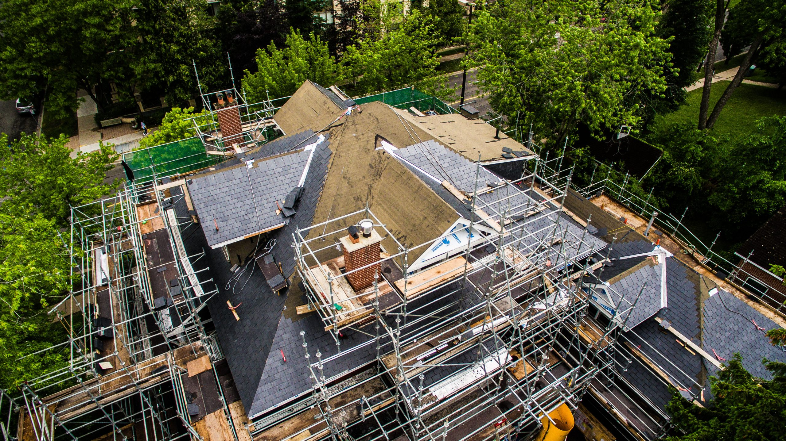 Aerial View- JMH Slate Roof Project