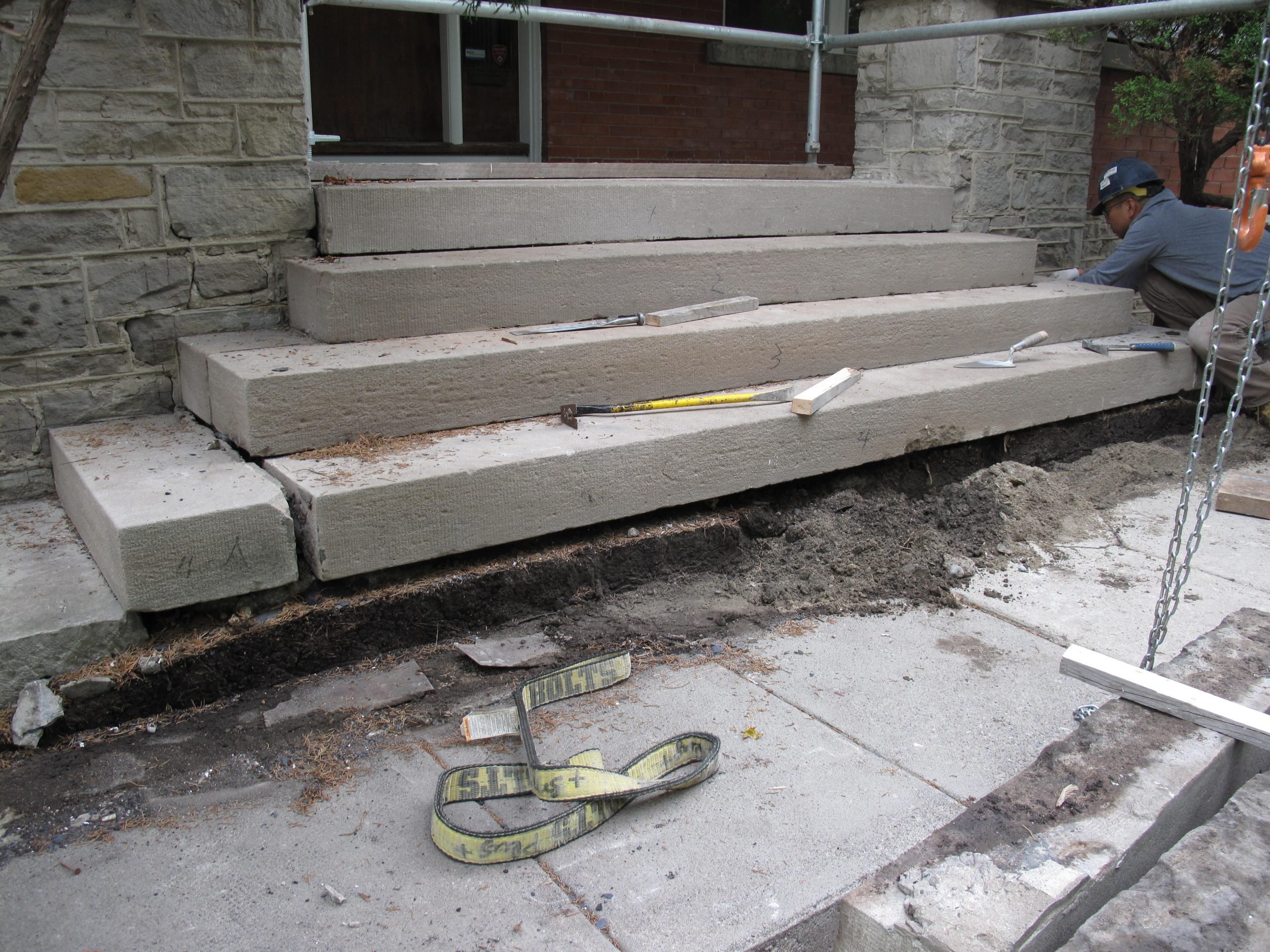 Fig. 61. Limestone Steps Restoration 2016