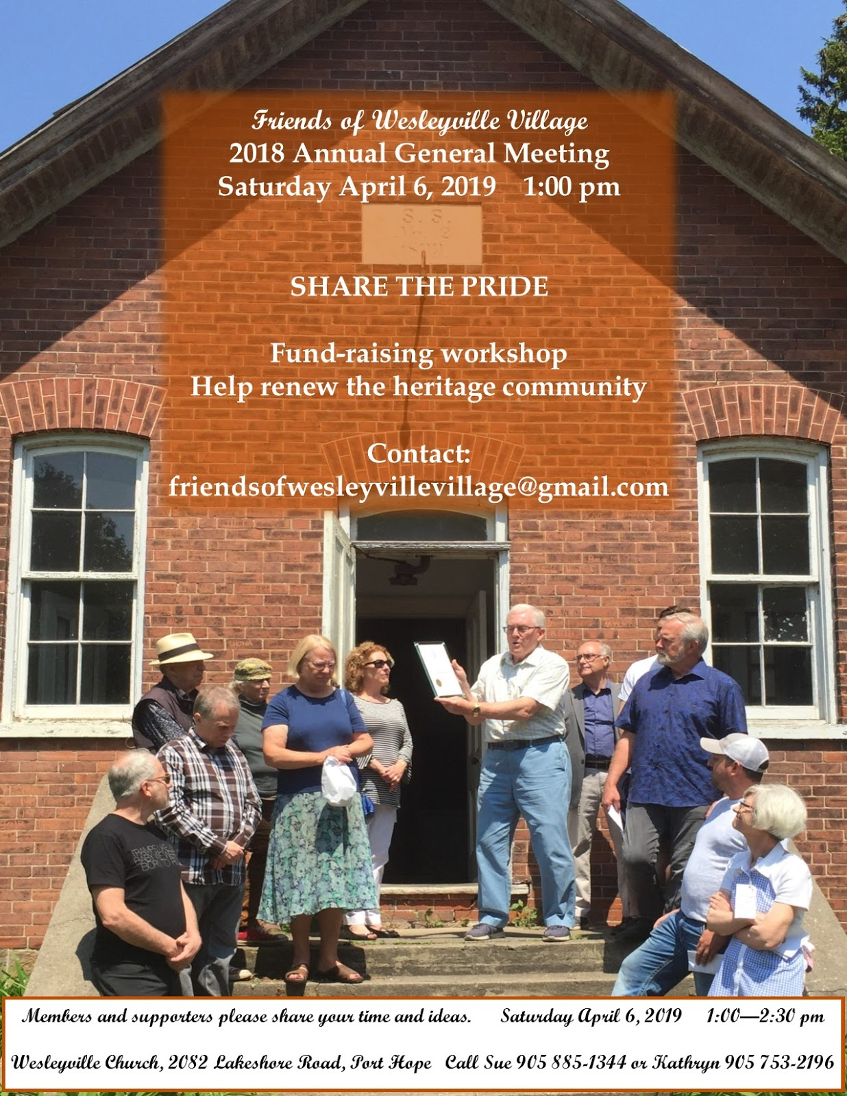 Friends of Wesleyville Village 2018 AGM