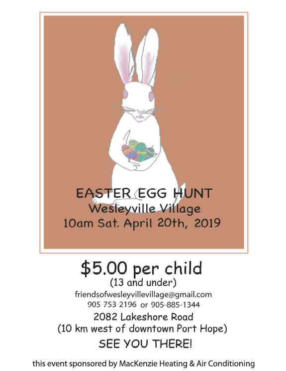 Friends of Wesleyville Village Easter Egg Hunt 2019