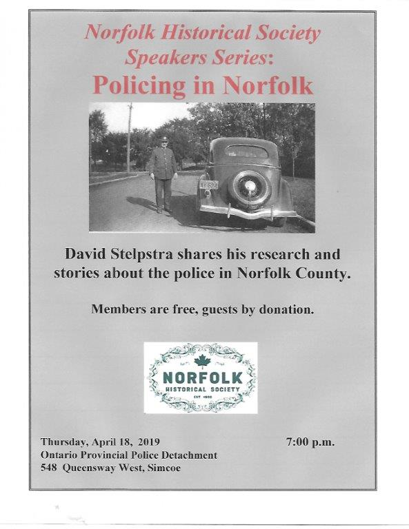 Norfolk Historical Society April 2019