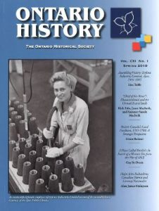 Ontario History Spring 2019 Cover