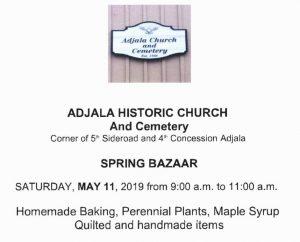 Adjala Spring Bazaar 2019
