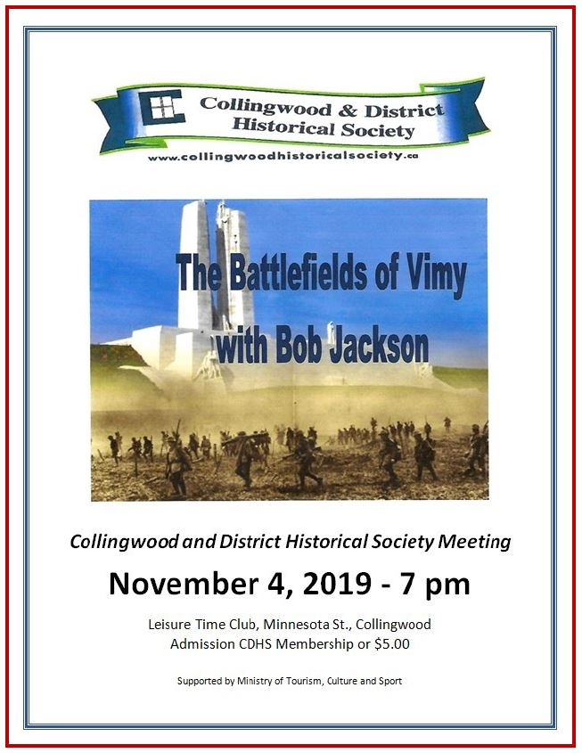 Collingwood and District HS November 2019 Meeting