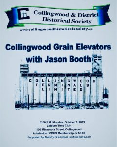 Collingwood and District HS October 2019 Meeting