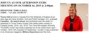 EYHS October 2019 Meeting