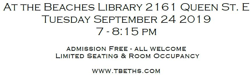 TBETHS 2019 September Meeting