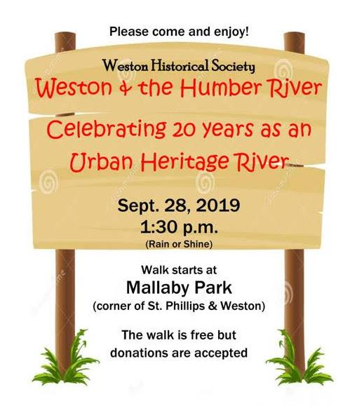 Weston Historical Society Fall Walk 2019