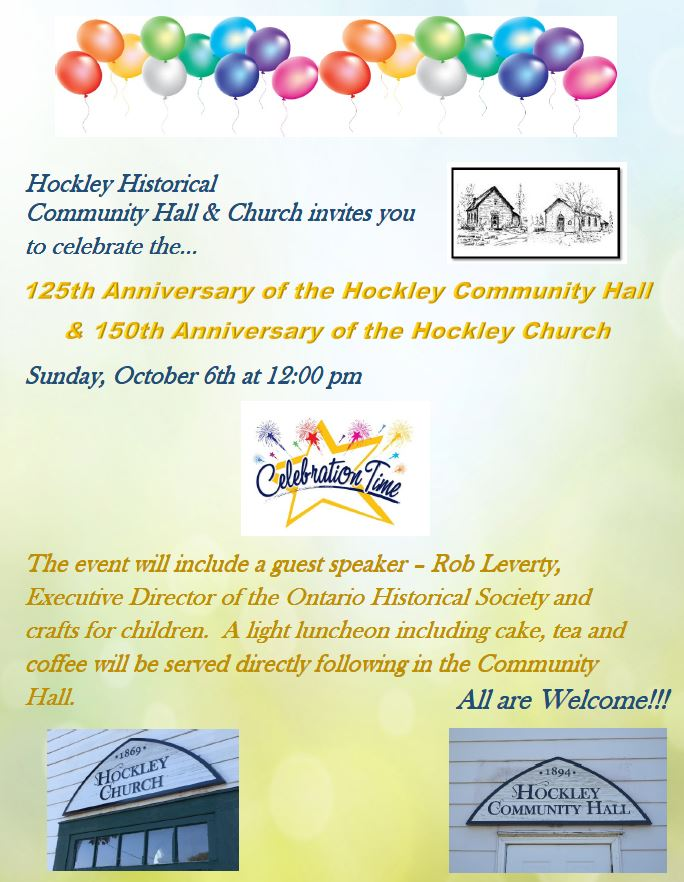 Hockley Community Hall and Church Anniversary