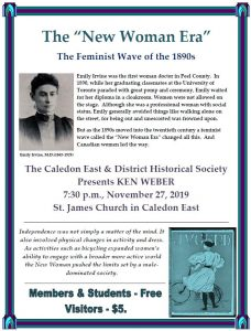 Caledon East & District Historical Society November 2019 Meeting