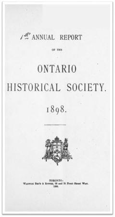 1898 Annual Report of the OHS Cover
