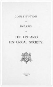 1898 Constitution and By-laws of the OHS Cover