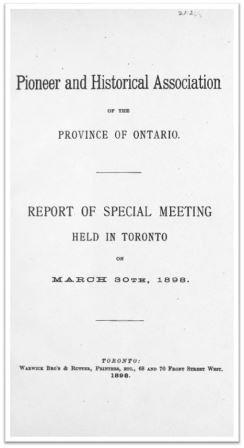 1898 Pioneer and Historical Association Special Meeting Cover