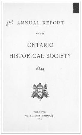 1899 Annual Report of the OHS Cover