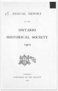 1901 Annual Report of the OHS Cover