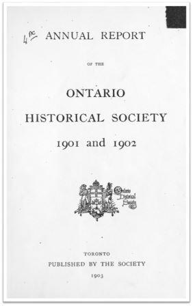 1901 and 1902 Annual Report of the OHS Cover