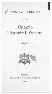1903 Annual Report of the OHS Cover