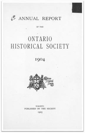 1904 Annual Report of the OHS Cover