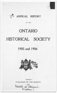 1905 and 1906 Annual Report of the OHS Cover
