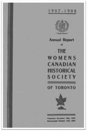 1907-1908 Annual Report of the WCHST Cover