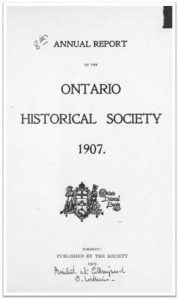 1907 Annual Report of the OHS Cover