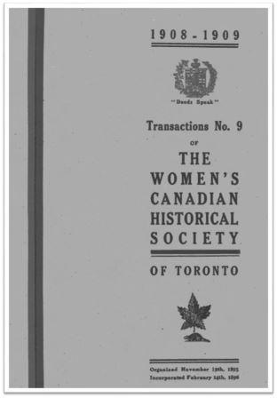 1908-1909 Transaction No 9 of the WCHST Cover
