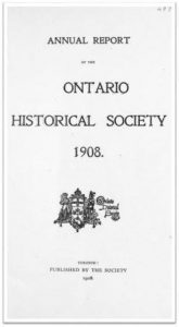 1908 Annual Report of the OHS Cover