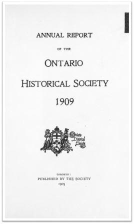 1909 Annual Report of the OHS Cover