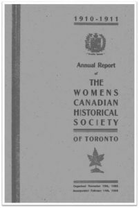 1910-1911 Annual Report of the WCHST Cover