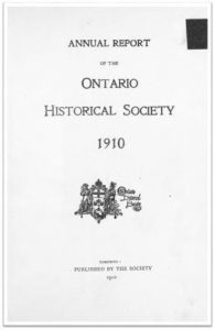 1910 Annual Report of the OHS Cover