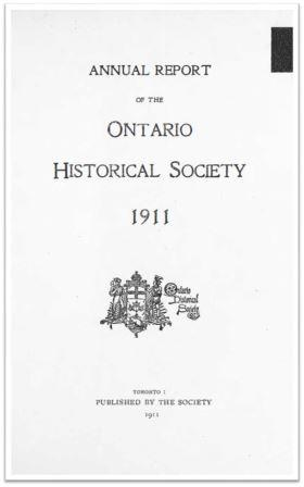 1911 Annual Report of the OHS Cover