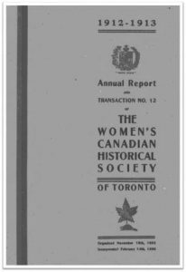 1912-1913 Annual Report and Transaction No 12 of the WCHST Cover