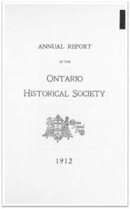 1912 Annual Report of the OHS Cover