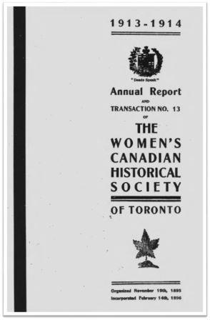 1913-1914 Annual Report and Transaction No 13 of the WCHST Cover