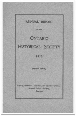 1913 Annual Report of the OHS Cover