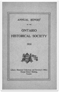 1914 Annual Report of the OHS Cover