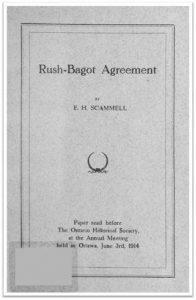 1914 Rush-Bagot Agreement Cover