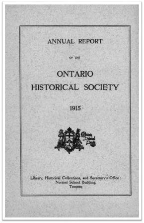 1915 Annual Report of the OHS Cover