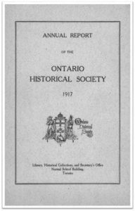 1917 Annual Report of the OHS Cover