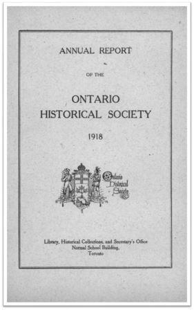 1918 Annual Report of the OHS Cover