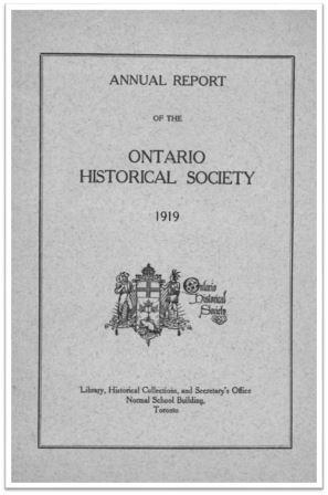 1919 Annual Report of the OHS Cover