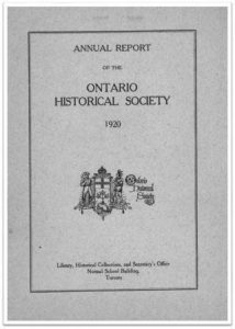 1920 Annual Report of the OHS Cover