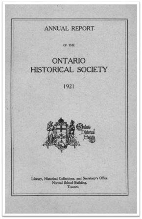 1921 Annual Report of the OHS Cover