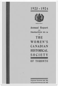 1923-1924 Annual Report and Transaction No 24 of the WCHST Cover