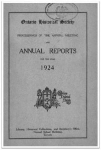 1924 Annual Report of the OHS Cover