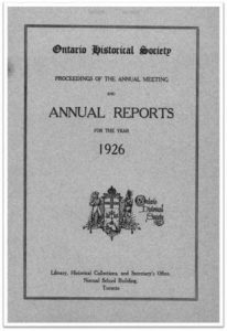 1926 Annual Report of the OHS Cover