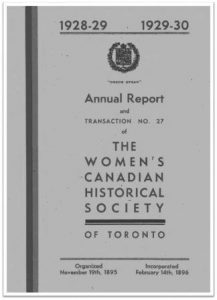 1928-1929 1929-1930 Annual Report and Transaction No 27 of the WCHST Cover