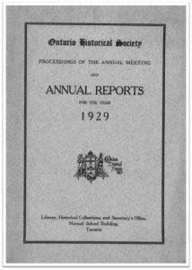1929 Annual Report of the OHS Cover