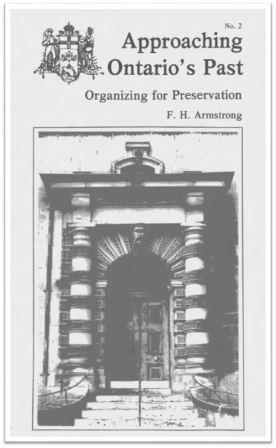 1978 Approaching Ontario's Past - Organizing for Preservation Cover