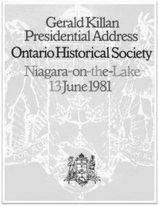 1981 Gerald Killan Presidential Address Cover